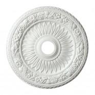 24 ln White Polyurethane Ceiling Medallion (DK-BA1060B)