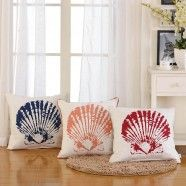Shell Printed Cotton Cushion Cover (DK-LG001)
