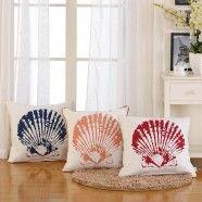 Shell Printed Cotton Cushion Cover (DK-LG001)