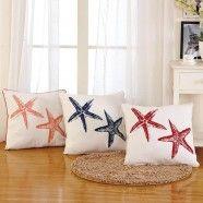 Starfish Printed Cotton Cushion Cover (DK-LG002)