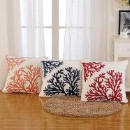 Coral Printed Cotton Cushion Cover (DK-LG003)