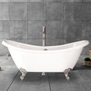 69 In Clawfoot Freestanding Bathtub - Acrylic White (DK-MEC3140)