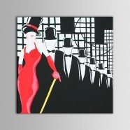 Abstract Frameless Printed Oil Painting on Chemical Fiber Canvas (DK-PH-DH02)