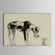 Animal Printed Oil Painting on Chemical Fiber Canvas (DK-PH-DH24)