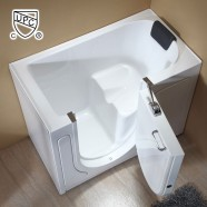 52 x 29 In Walk-in Soaking Bathtub - Acrylic White with Left Drain (DK-Q372-L)