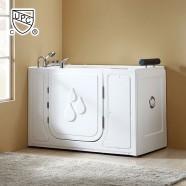 58 x 30 In Walk-in Soaking Bathtub - Acrylic White with Left Drain (DK-Q377-L)