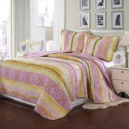 Comfortable Pure Cotton 3-Piece Quilt Set (DK-WX007)