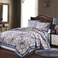 Comfortable Pure Cotton 3-Piece Quilt Set (DK-WX010)