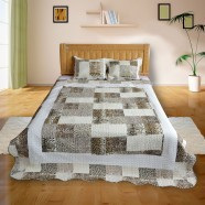 Leopard Print Patchwork 3-Piece Quilt Set, Queen (DK-WX018)