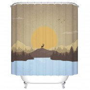 "Fashionable Bathroom Waterproof Shower Curtain, 70"" W x 72"" H (DK-YT024)"