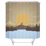 "Fashionable Bathroom Waterproof Shower Curtain, 70"" W x 72"" H (DK-YT024)"
