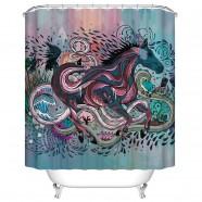"Fashionable Bathroom Waterproof Shower Curtain, 70"" W x 72"" H (DK-YT025)"