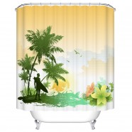 "Fashionable Bathroom Waterproof Shower Curtain, 70"" W x 72"" H (DK-YT029)"