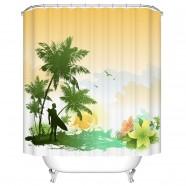 "Fashionable Bathroom Waterproof Shower Curtain, 70"" W x 72"" H (DK-YT029)"