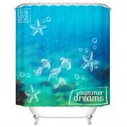"Fashionable Bathroom Waterproof Shower Curtain, 70"" W x 72"" H (DK-YT031)"