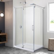48 In. Pivot Shower Door with 36 In. Side Panel (DK-ZD1002-8L)