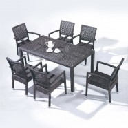 7 Pieces Dining Set: Dining Table, 6 Chairs (JMS-6121)