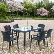 7 Pieces Dining Set: Dining Table, 6 Chairs (JMS-6122)