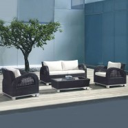 Wicker Patio Seating Set with Cushion (JMS-692)
