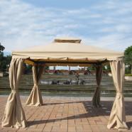 13.12 ft. x 13.12 ft. Roman Style Cabin Gazebo  (LM-002-4)