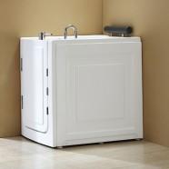 40 x 28 In Walk-in Whirlpool Soaking Bathtub - Acrylic White with Left Drain (DK-MQ376-L)
