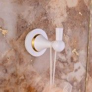 Towel Hook - White Painting Brass (80353D)