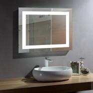 28 x 36 In Horizontal LED Bathroom Mirror with Anti-fog and Bluetooth Function (DK-OD-CK010-B)