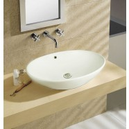 White Ceramic Above Counter Basin (DK-LSE-8018)
