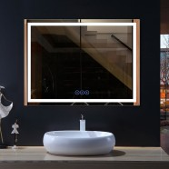 48 x 36 In Horizontal LED Bathroom Mirror with Anti-fog and Bluetooth Function (DK-OD-CK010-B1)