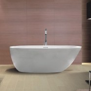 67 In Freestanding Bathtub - Acrylic White (DK-SLD-YG879)