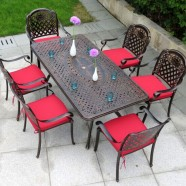 7 Pieces Dining Set: Dining Table, 6 Chairs (ZL-911)