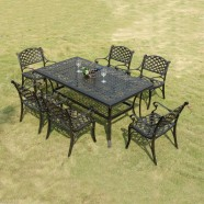 7 Pieces Dining Set: Dining Table, 6 Chairs (ZL-914)