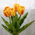 """PU Artificial Tulip Flower/Piece - 23"""" - Orange"""