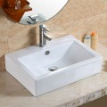 Decoraport White Rectangle Ceramic Above Counter Basin (CL-1179)