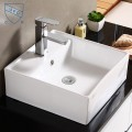 Decoraport White Square Ceramic Above Counter Basin (CL-1079)