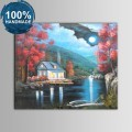 100% Hand Painted Abstract Moonlight Oil Painting on Canvas (DK-JX-YH045)