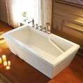 60 In White Acrylic Freestanding Bathtub (DK-Q156)