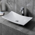White Rectangular Artificial Stone Above Counter Bathroom Vessel Sink (DK-HB9017)