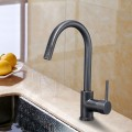 Black Bronze Finished Brass Kitchen Faucet  (82H37-ORB)
