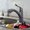 Black Bronze Finished Brass Kitchen Faucet - Pull Out Spray Head (82H22-ORB-N)