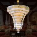 92-Light Gold Crystal Hall Chandelier (HY02SJD019A)