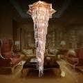27-Light Gold Crystal Hall Chandelier (HY02SJX070A)