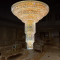 154-Light Gold Crystal Hall Chandelier (HY02SJX011A)