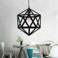 1-Light Cage Pendant Iron Light (1636-1B)