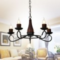 5-Light Iron/Glass Vintage Chandelier (HKP31251-5)