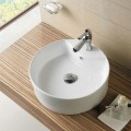 Decoraport White Round Ceramic Above Counter Basin (CL-1033)