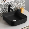 Matte Black Square Ceramic Above Counter Basin (CL-1282YA)