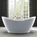 67 In Freestanding Bathtub - Acrylic White (DK-SLD-YG853)