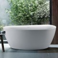 BATHPRO 59 In High-end Freestanding Bathtub - Acrylic Matte White (DK-MF-89572)