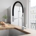 Chrome Kitchen Faucet with Black Flexible Hose (YDL0001)